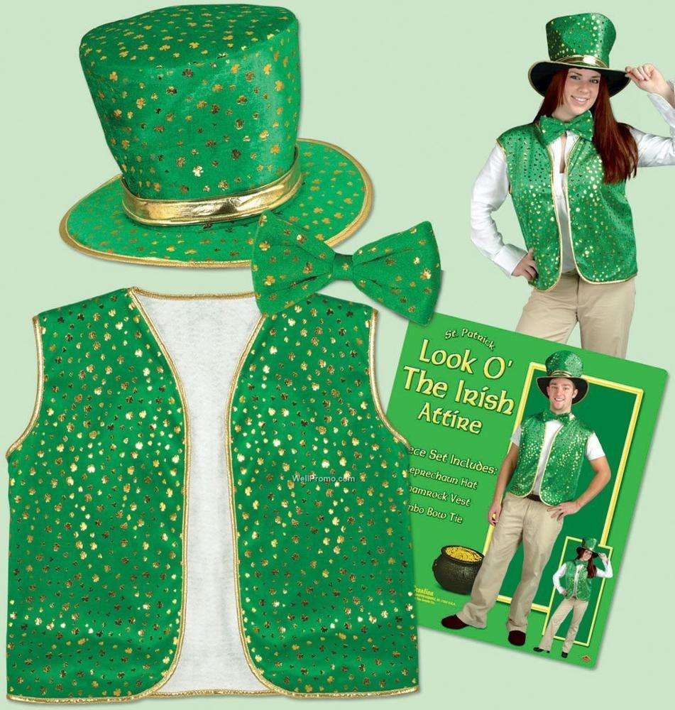 St Patrick's Day Decorations St Patricks Day Clothing Waistcoat Hat Bowtie Celebrate St Patricks Day