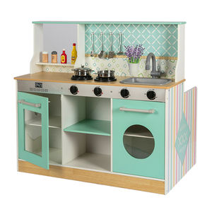 Diner Restaurant - Wooden Diner Play Kitchen Set  Two Play Spaces in One - Best Age 3