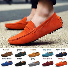 Slip on Casual Shoes for Men  Breathable Leather Loafers Mocassin Suede Leather Driving Man Shoes