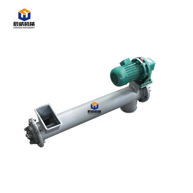 Inclined Tubular Hopper Concrete Powder Worm Auger Small Cement Screw Conveyor Machine