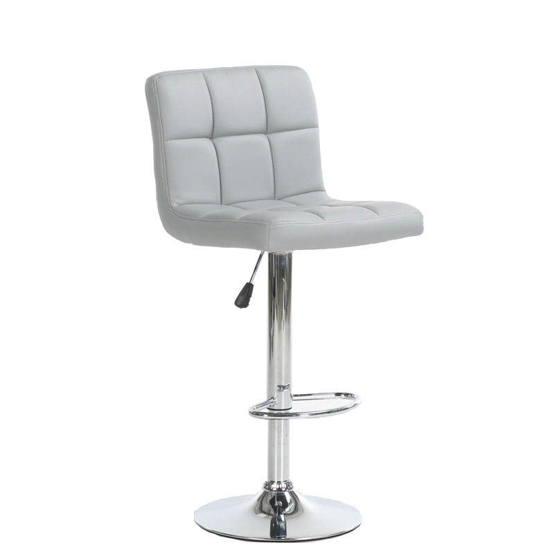 YIBO coffee restaurant leather comfort adjustable modern swivel bar stool chair