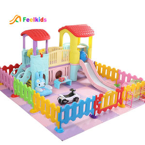 High quality children playhouse kindergarten kids play house small plastic indoor playground equipment with slide toy