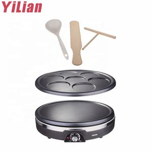Non-stick double pan electric baking pancake maker crepe machine for temperature control of domestic pancake pot