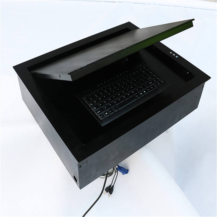 Flip Up Touch Screen Conference Table Turnover Device Computer LCD Monitor Lift for Audio Visual Conference System