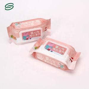Custom logo plastic wipes bag baby wet tissue packaging bag