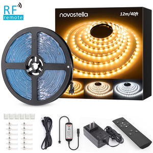 12M/40FT LED Strip lights 2835 SMD Tunable 3000-6000K Warm White/Cool White 120LEDs/m DC24V Under Cabinet Flexible Strip