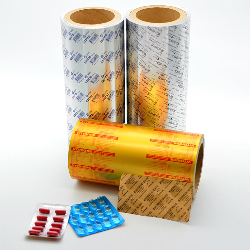 Graphic Customization Aluminium Foil Producer Soft Printed Paper/AL/VC Pharmaceutical Blister Tablets Pills Packaging PTP Aluminum Foil