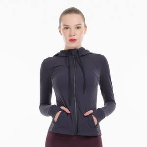 Breathable Adults Fitness Yoga Wear Women Yoga Suit Coat Jackets Sports Coat Hoodie