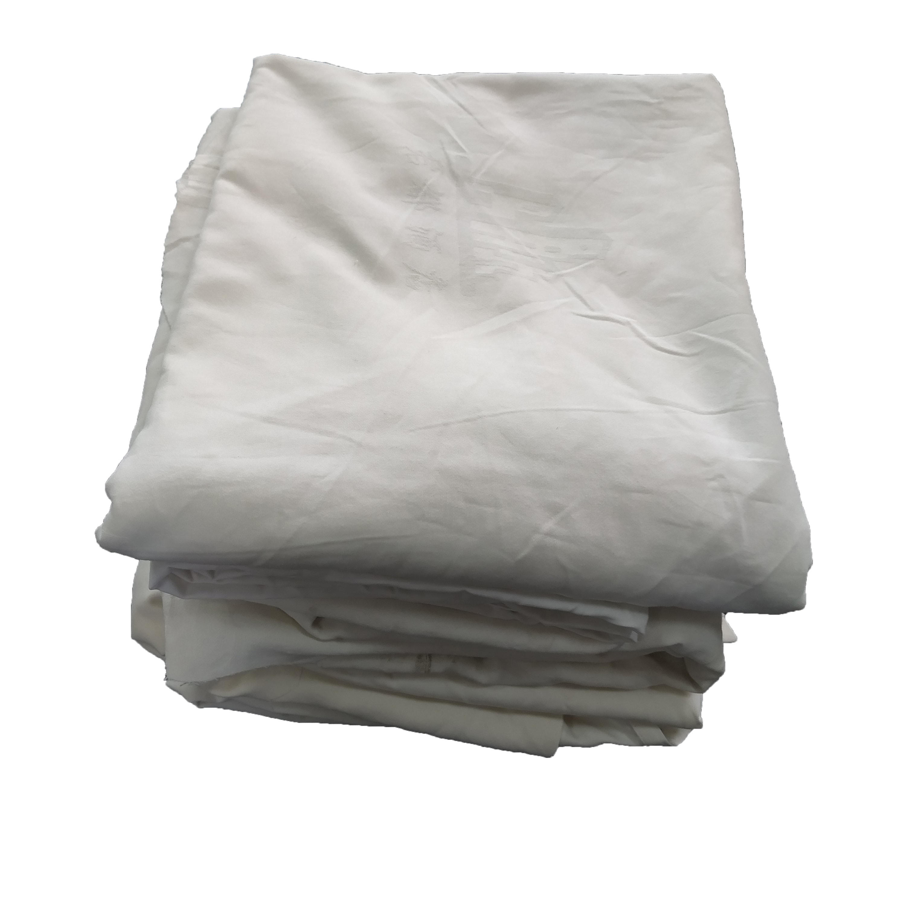 White cotton bed sheet cloth cleaning cloth rags with high effciency