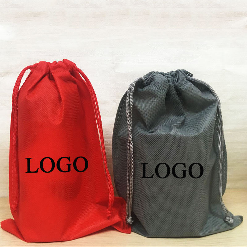 Wholesale Cheap custom logo non woven drawstring bag for gifts packing travel drawstring package non woven tissue dust bag