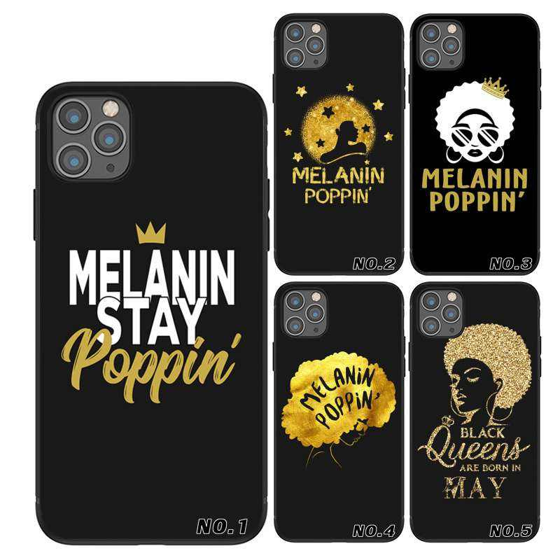 Fashion Melanin poppin TPU printing mobile phone bags for iPhone 6 7 8 X XR Xs Max11 11Pro 11Pro Max Case