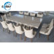 2020 New product X-legs white marble dining table for 8 people