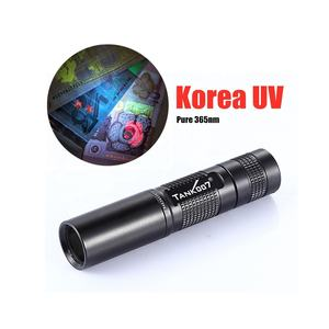 Tank007 TK566 black OEM 365nm torches portable blacklight torchlight 365 flashlights torch light led UV flashlight