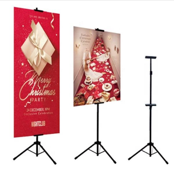 T-SIGN Double-Sided Tripod Poster Stand, Heavy Duty Poster Sign Stand, Adjustable Floor Standing Sign Stand