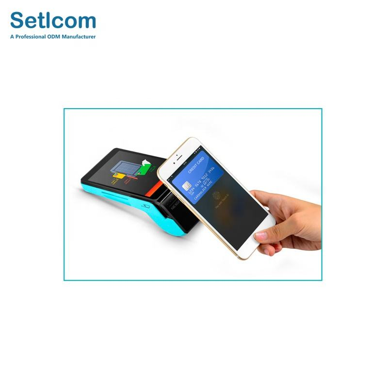 2020 Best Sale Handheld NFC Biometric Android Contactless Touch Screen Terminal POS With Fingerprint Mobile Payment