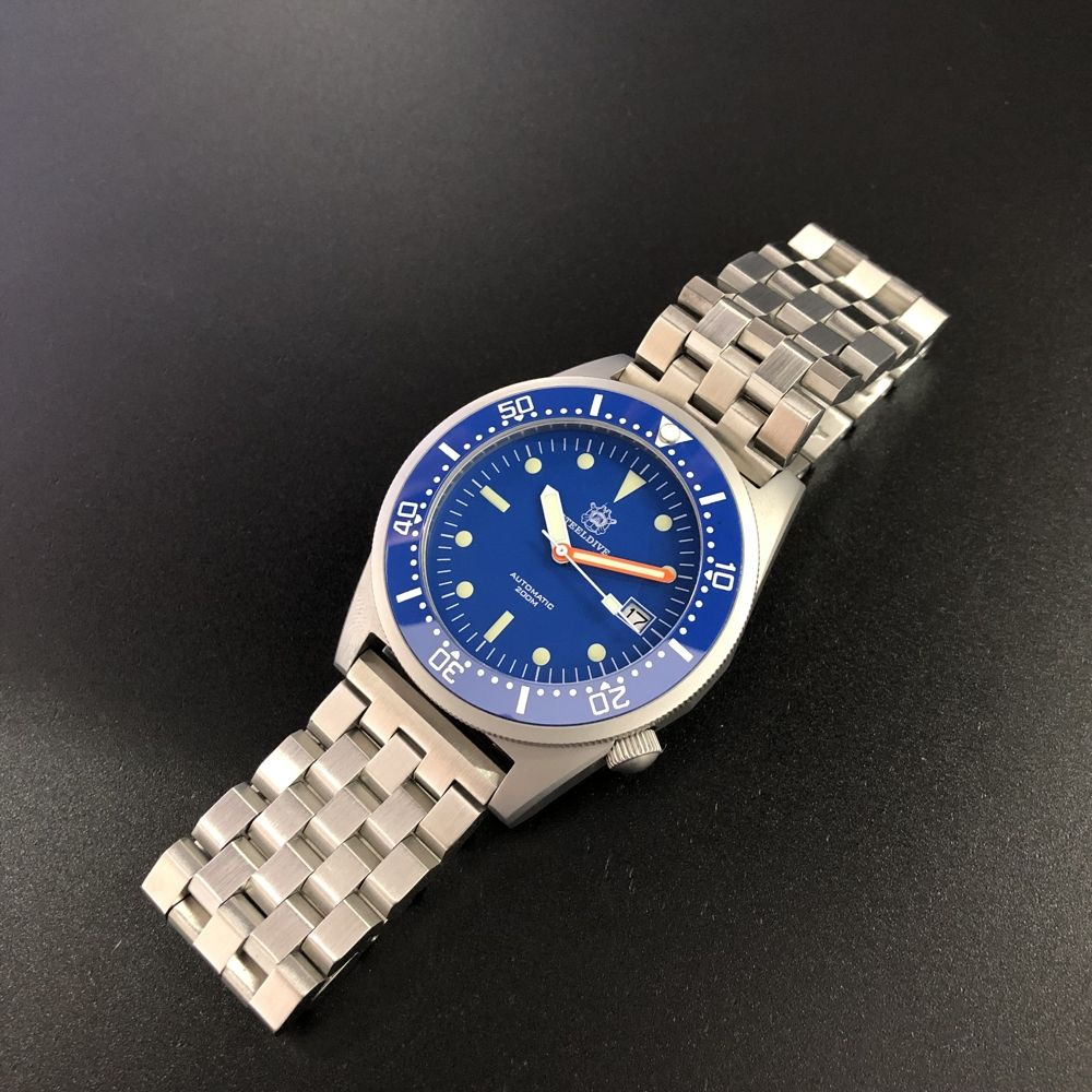 Factory Direct Sale! SD1979 STEELDIVE Stainless Steel 20ATM Waterproof Dive Watch with Japan Movement NH35