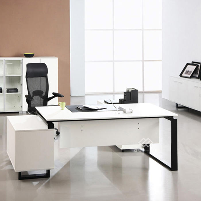 Marble fancy elegant furniture solid surface white office desk