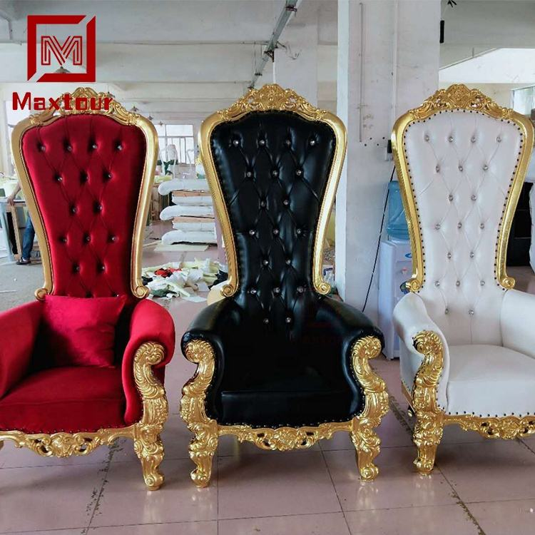 Elegant event furniture wedding throne chairs for bride and groom sofa chair
