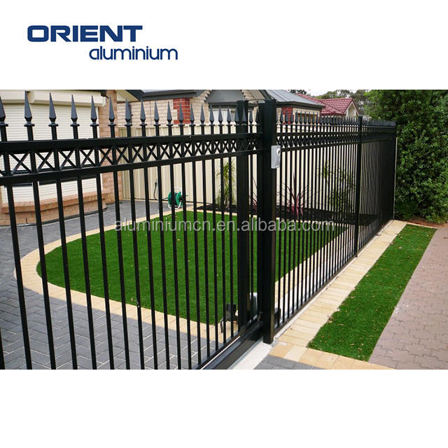 easy assemble free maintenance decorative powder coated aluminum fence panels with posts