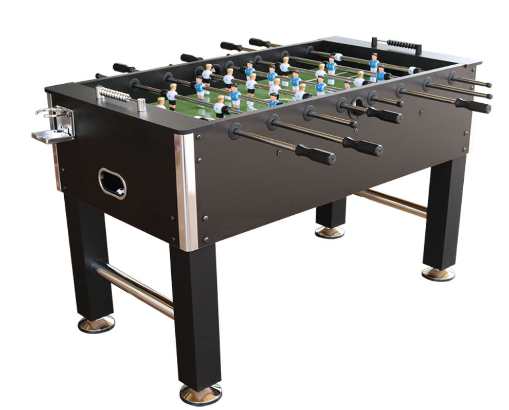 Soccer table for playing football games on board