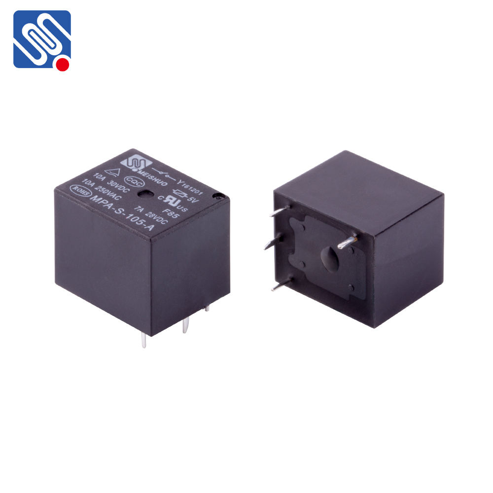 MEISHUO MPA 5~48VDC 5A 7A 10A 12v SPST SPDT miniature pcb power 5 pin mini relay 24v price