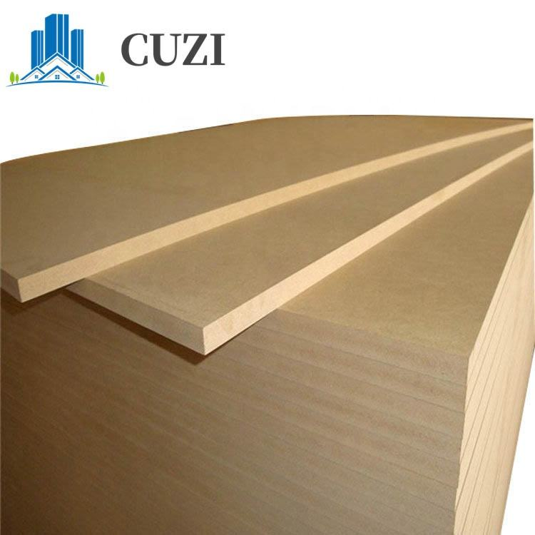 Plain mdf 8mm waterproof mdf laminated board for building