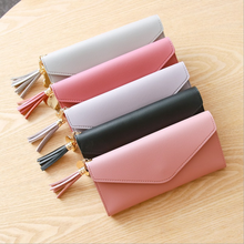 2019 fashion long women PU leather wallet ladies purse woman clutch wallet for women
