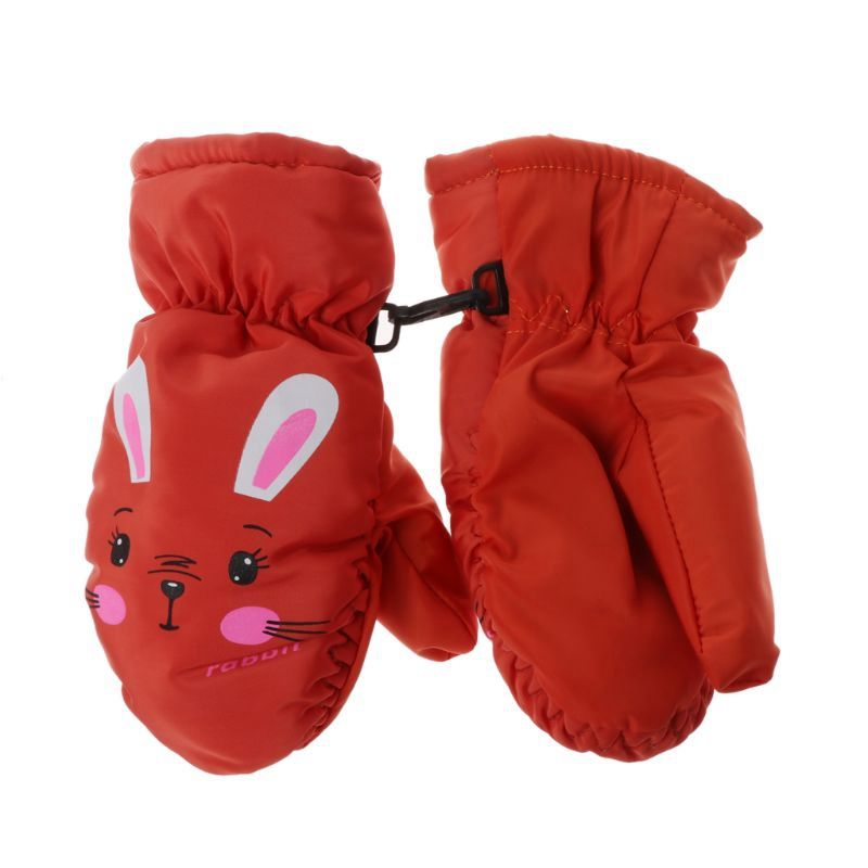 Kids Winter Warm Gloves Windproof For Children Boys Girls Ski Cycling Climbing Outdoor Gloves Waterproof Anti-slip leather
