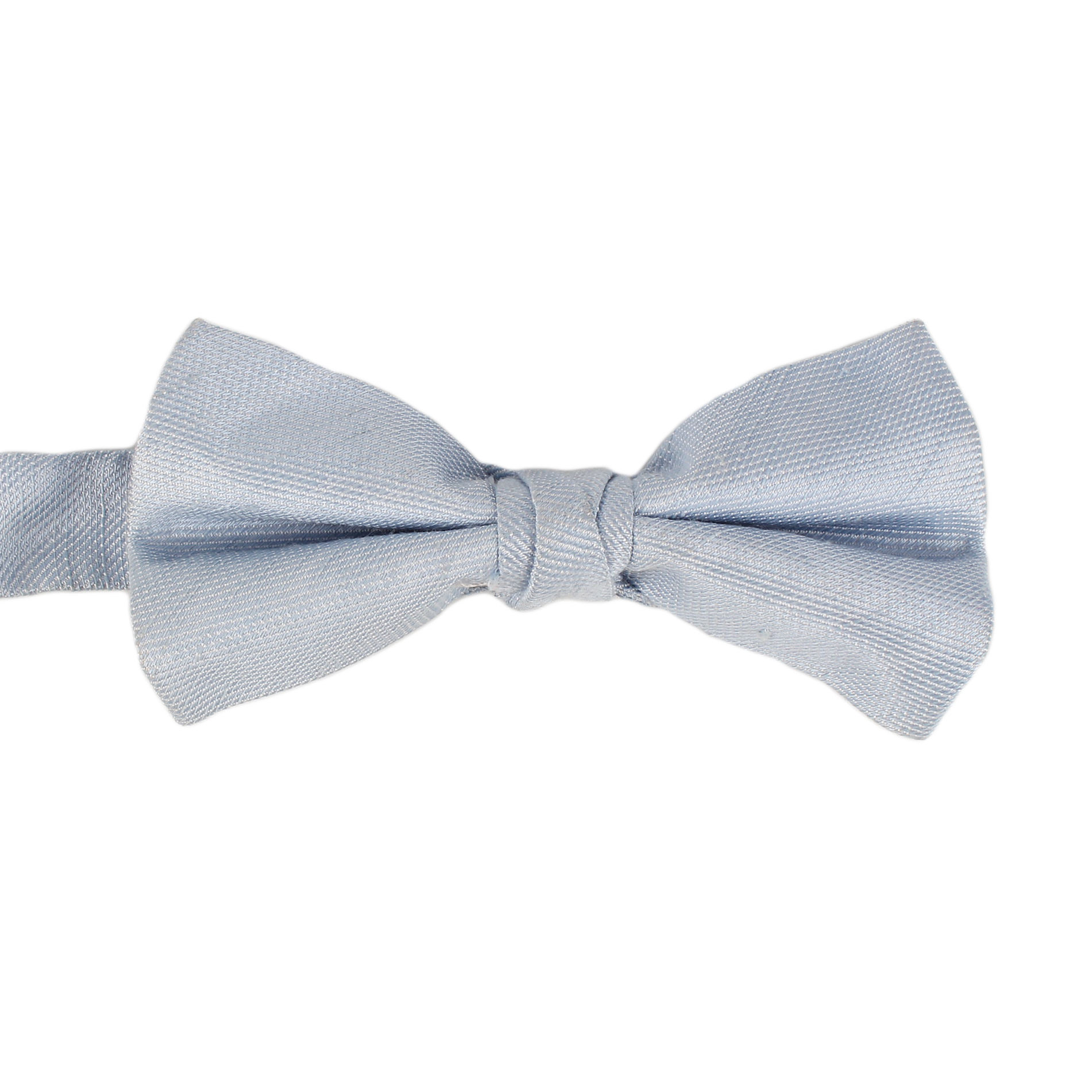 Dacheng Solid Sky Blue Color Silk Linen Blend Tuxedo Bow Ties For Men