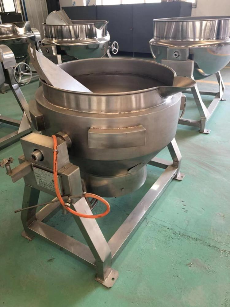 Industrial gas heating jacketed kettle