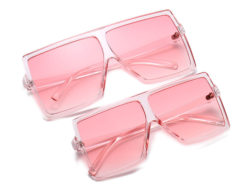 THREE HIPPOS 1 Set 2 pcs Matching Mother and Daughter Shades Square Sun Glasses Women Plastic Flat Top Kids Sunglasses 2021