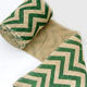 2Meters Jute Burlap Printed Patterns Natural Hessian Ribbon Fabric for Wedding Christmas Decoration