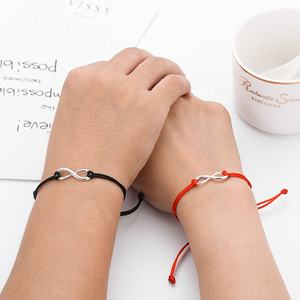 2pcs/set Together Forever Love Infinity Bracelet for Lovers Red String Couple Bracelets Women Men's Wish Jewelry Gift