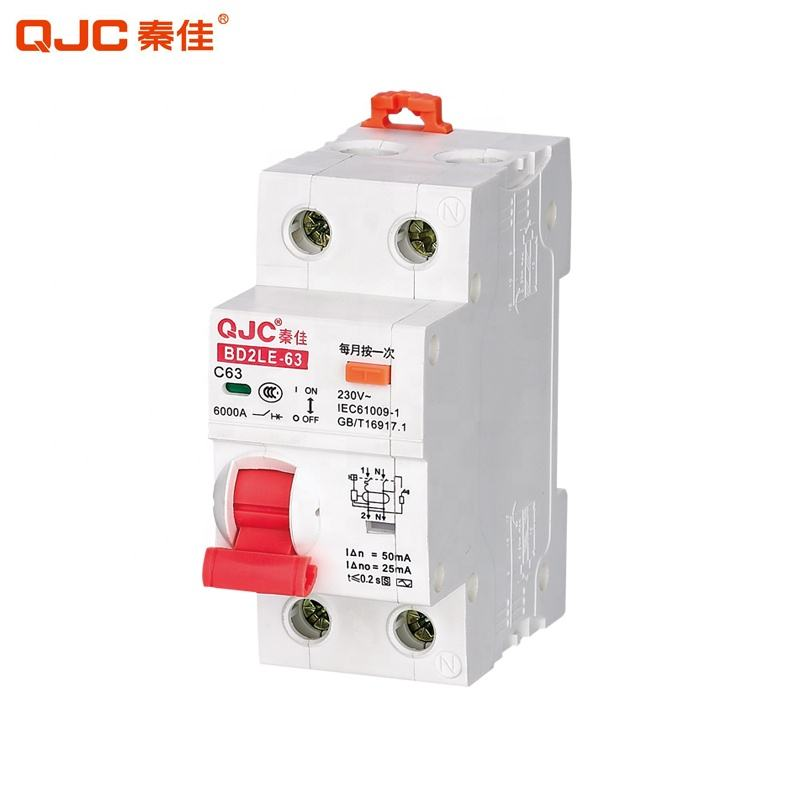 QJC Groothandel I Type BD2LE-63 Mini RCBO 2P 30MA