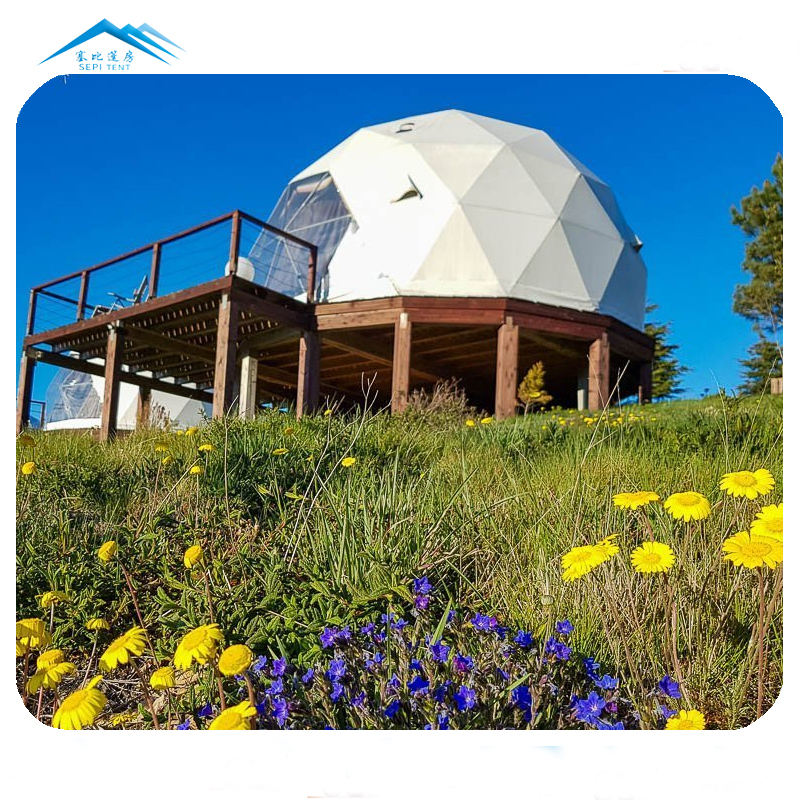 6 meters diameter hotel dome glamping pods china geodesic domes for sale