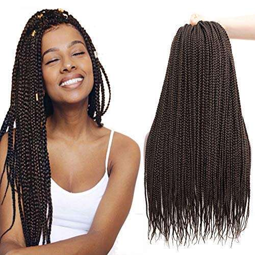 28inch 3X Pre-Looped Zizi Braids Thin Small Box Braids Long Micro Crochet Twist Synthetic Braiding Hair Extension(Free Shipping)
