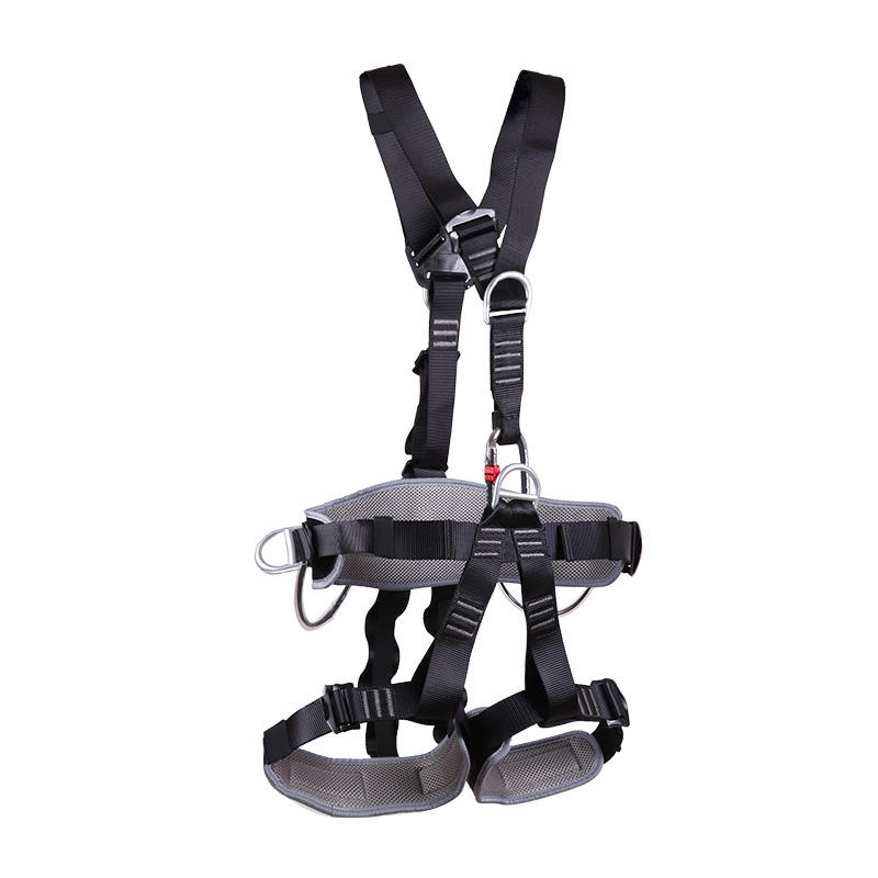 Outdoor climbing mountaineering equipment full body safety harness