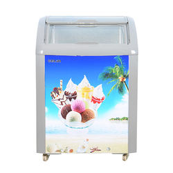 Mini Display Chest Freezer Curved Slide  Door Ice Cream Freezers