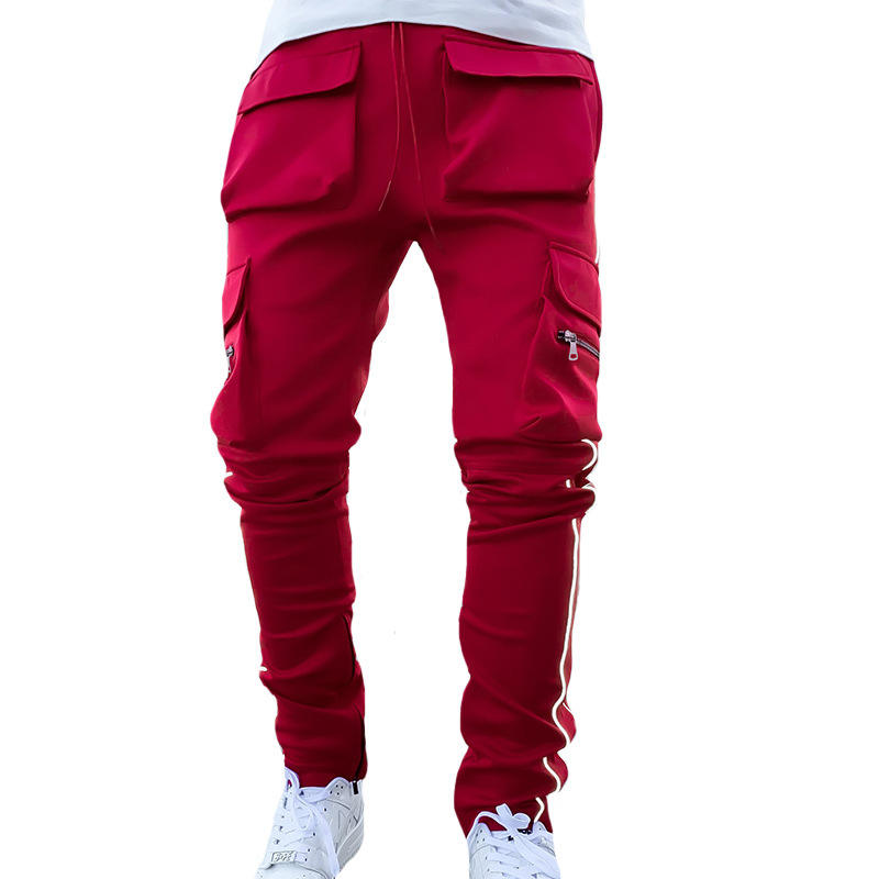 2021 stacked sweatpants mens pockets jogger pants trousers sets men sport joggers