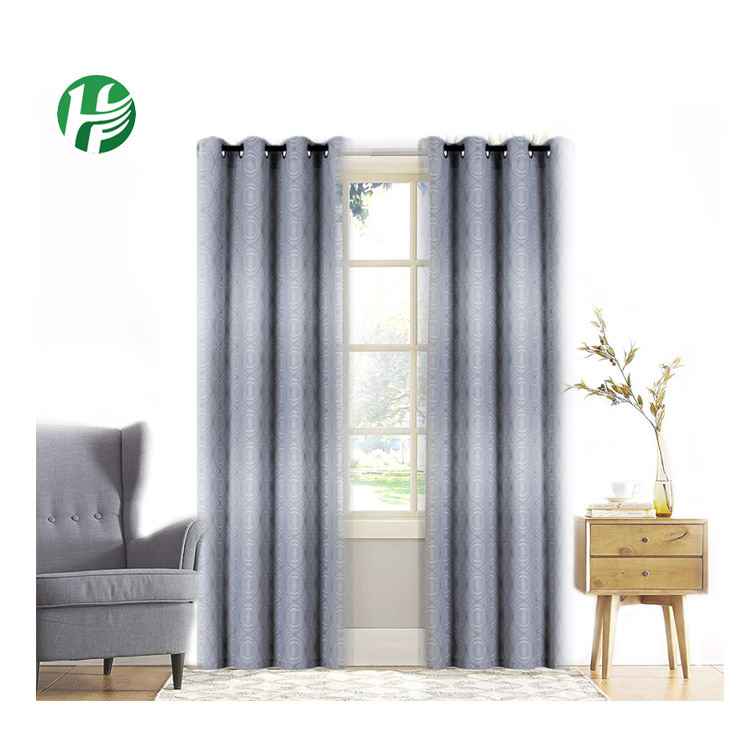 100% Polyester Sheer Window Coverings Curtain Cloth For Office Windows