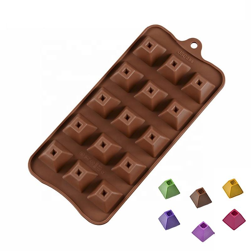 15 Cavity Silicone mini creative triangle chocolate cake mould pan chocolate bakeware