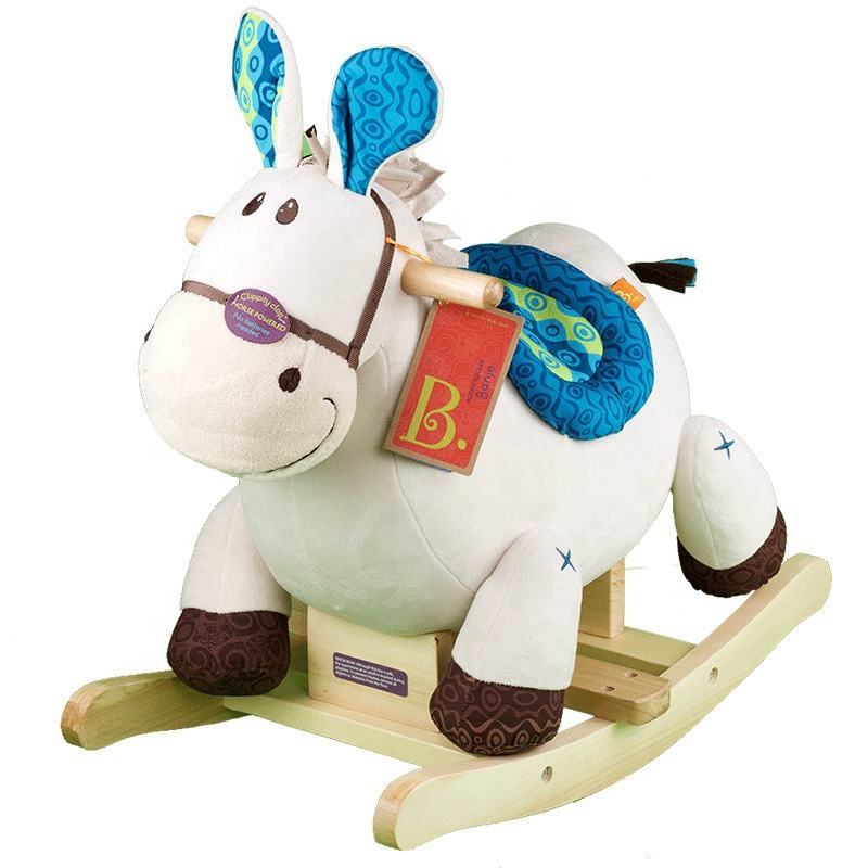 ride on toy style plush wooden rocking horses kids riding pony cycle riding horse