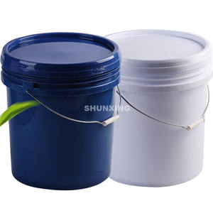 Custom 20L 25L plastic buckets 5 gallon food grade plastic buckets with lids and handle