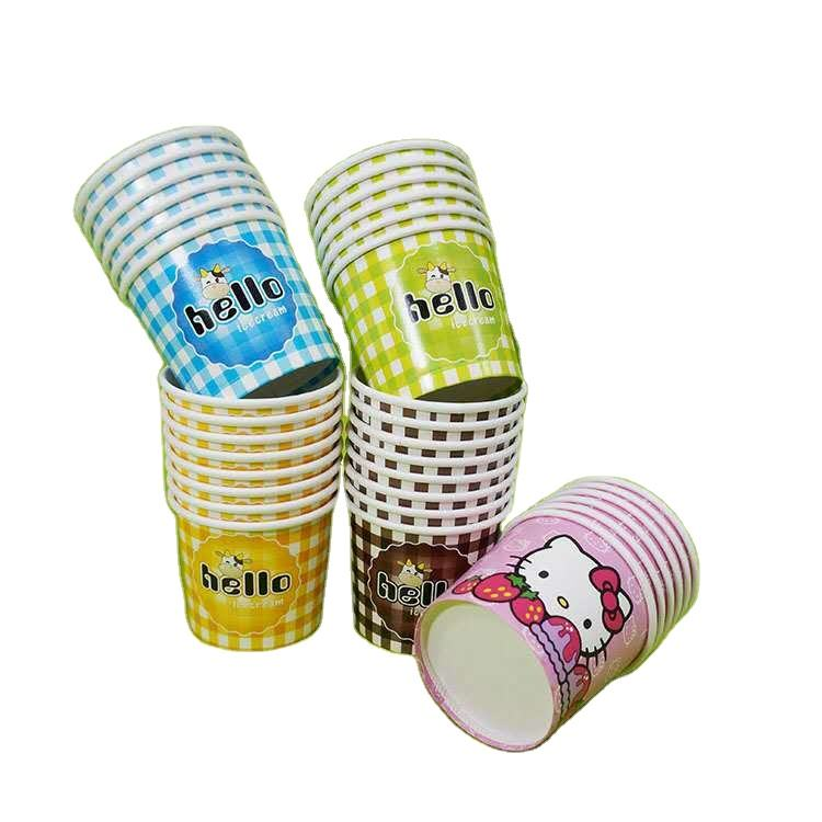 Ice cream paper cups Biodegradable 2OZ 3OZ 5OZ 6OZ 8OZ Packaging Container Ice cream Cups Disposable