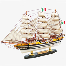 Handmade ship model crafts famous historical ship Vespucci nostalgic style living room art ornaments