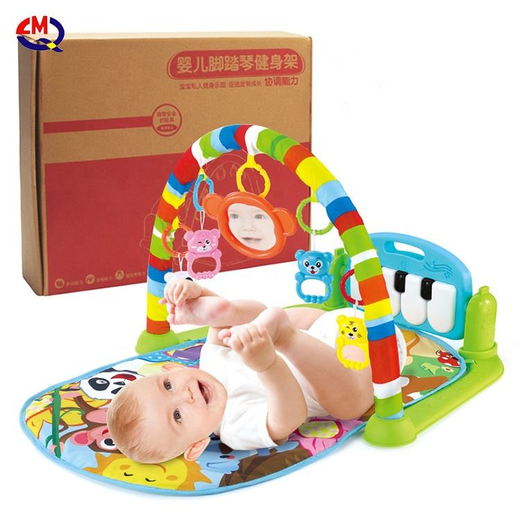 wholesale developing newborn brain play mats fitness rack infant sleep play mat with colorful toys