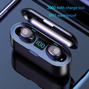 Amazon FBA Wireless Earbuds Bluetooths 5.0 F9 Tws Earbuds F9 Tws With Charging Box Led