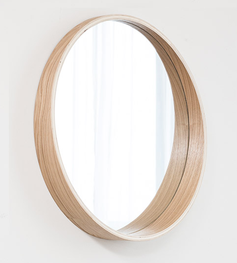 wholesale Hot selling Mdf solid Wood frame mirror round fashion vanity mirror home decor Mirror in size 50,60,70,80,90