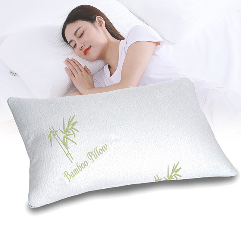 High Quality Standard Size Queen Size Aloe Vera Bamboo Cover Memory Foam Pillow