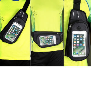 Custom Logo Close-Fitting Running Pouch Riem Waterdicht Dacron + Tpu Ultradunne Sport Elastische Taille Tas